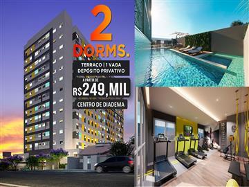 Ref: Felicitá 2 dormitórios no melhor de diadema. Centro Antecipe-se ao lançamento e negocie direto com a Construtora