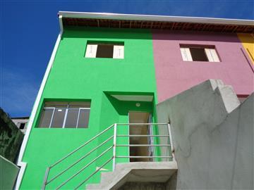 Casas da Caixa Econômica Federal no bairro Estância Lago Azul na cidade de Franco da Rocha