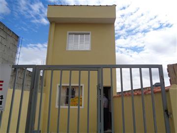 Casas da Caixa Econômica Federal no bairro Vila Eliza na cidade de Franco da Rocha